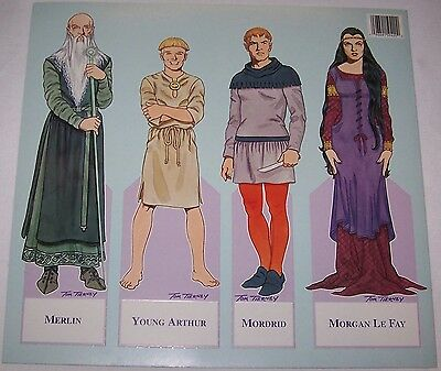 Lot of (12) Camelot By Tom Tierney Paper Doll Book 1996 B. Shackman New Uncut