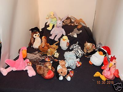 Wholesale Lot(20) Ty Beanie Babies Plush Collectibles Many Retired ( Lot 7)