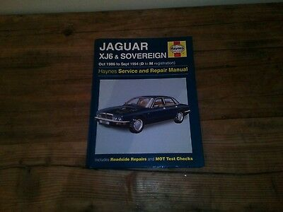Jaguar XJ6 and Sovereign Owners Workshop Manual 1986 to 1994 by Haynes
