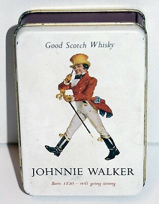 Vintage Johnnie Walker Playing Cards In Tin From Greece