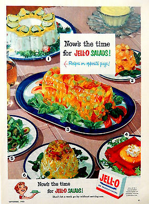 Vintage 1952 Jello Jell-O salad retro advertisement print ad art