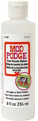 Mod Podge 8 Oz Photo Transfer Medium for Light or Dark Fabrics - 236 ML