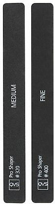 QVS Professional Nail Silicon Carbide Shapers - Set of 2 - Medium and Fine