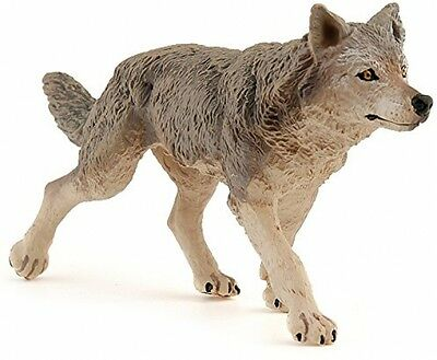 Papo Grey Wolf Hand Painted Realistic Collectable Figure FAST AND FREE DELIVERY