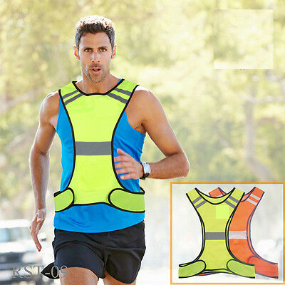 Reflective Safety Vest Safety Sports Night Gear High Visibility Adults Children