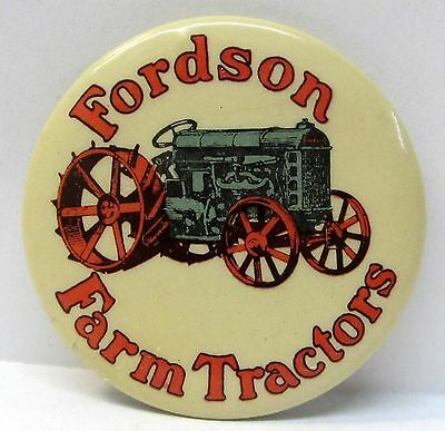 rare circa 1920 FORDSON FARM TRACTOR farming pocket mirror *