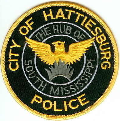 City of Hattiesburg Police Patch Mississippi MS NEW!!