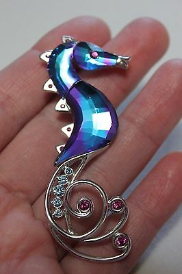 SIGNED SWAROVSKI  CRYSTAL SEAHORSE RETIRED  Collectible Pin/Brooch- L@@K