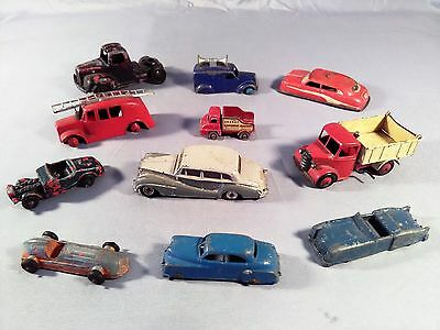 Antiques Vintage Toy Cars Lot of 11.