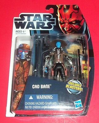 Star Wars Hasbro - New Action Figure - Cad Bane Cw4 - The Clone Wars