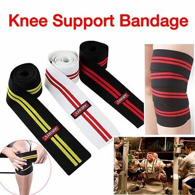 AU HOME GYM KNEE SUPPORT STRAP BRACE Powerlifting Weightlifting Protector SPORTS