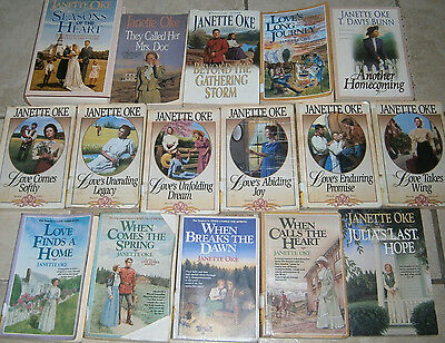 Lot 19 JANETTE OKE Novels Seaons of the Heart Love Comes Softly Canadian West ++