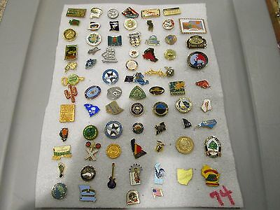74 Assorted State Pins/Tie Tack/Label pin