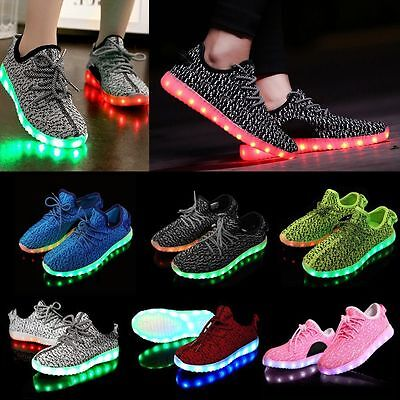 NEW Unisex LED Light Lace Up Luminous Shoes Sportswear Sneaker Casual Shoes Gift
