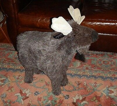 Whimsical Plush Faux Fur MOOSE Footstool Ottoman by The Hen House