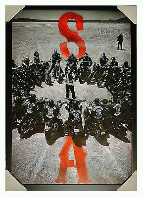 """TV - Sons of Anarchy  'Circle""""   Laminated Framed Poster"""