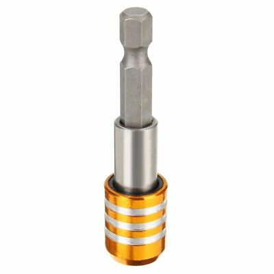 "60mm 1/4"" Magnetic Hex Shank Quick Release Drill Bit Screw Holder Screwdriver"