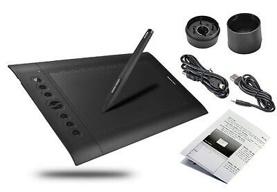 Huion H610 Pro 10 x 6.25 inch 2048 Levels 5080 LPI USB Graphics Drawing Tablet