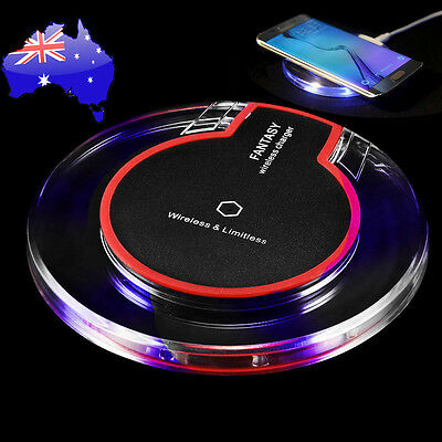 Qi Wireless Fast Charger Charging Pad for Samsung Galaxy S6 S7 Edge Note 5 7