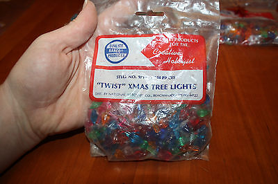 144 NARCO 97YS Small Twist Bulbs Ceramic Christmas Tree Multicolor with Star NOS
