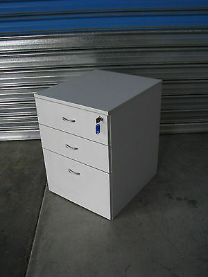 3 Drawer Pedestal Unit Cabinet Office Storage
