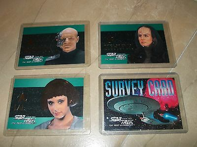 Star Trek Skybox TNG Season 3 special chase cards set S16-S17-S18 & Survey card