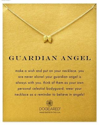 Handmade Gold Dip Guardian Angel Wings Necklace