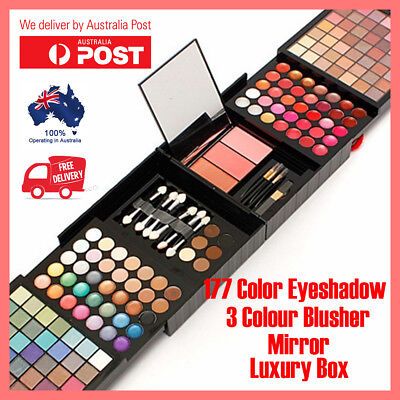 Pro 177 Colour Makeup Eyeshadow Palette Lip Gloss Powder Blush Beauty Set Kit
