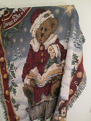 Boyd's Bear and Friends Twas the Night Before Christmas Tapestry Throw Blanket