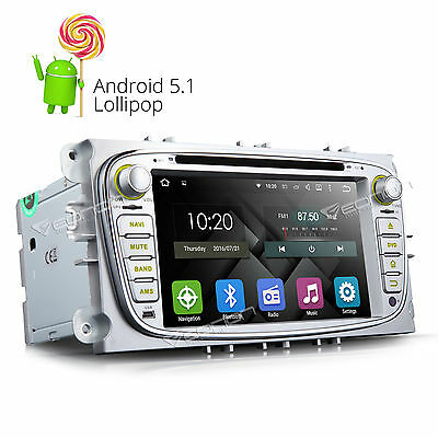 """7""""HD Android 5.1 Car DVD GPS Player Stereo NAVI 3G For Ford Focus Mondeo S-Max A"""