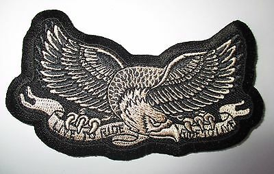 Live to Ride Eagle Patch Sew/Iron Men's shed Rider biker Motorcycle Vest