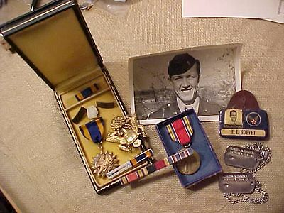 Original Wwii 8Th Af 91St Bomb Gp Air Medal Grouping - Memphis Belle Unit