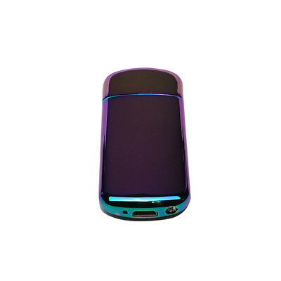 Rechargeable Electric Windproof Flameless Cigarette Lighter IRIDESCENT