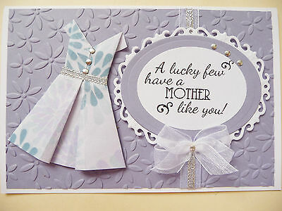 Handmade Card Happy Mothers Day, Mum Birthday Mother Stampin Up Lilac