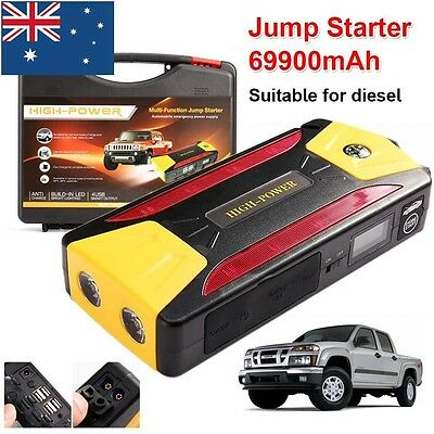 69900mAh Vehicle Car 12V Jump Starter Booster Battery Power Bank 4USB Charger AU