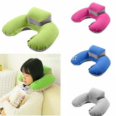 Inflatable U Shape Pillow Neck Head Rest Air Soft Cushion for Travel Plane