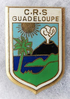 Insigne C. R. S. - Police - Obsolete - C.r.s. Guadeloupe - N° 03