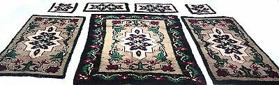 Antique vintage Turkish handmade  thick rugs and  4 seat covers pure wool  # 304