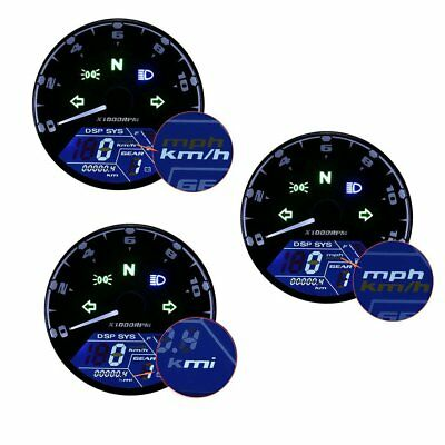 New Motorcycles Digital Speedometer Gauge LCD Backlight Speedo Waterproof Touch