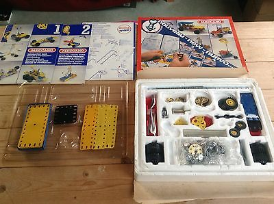 Meccano Boxed Set Number 2 Missing Parts Spares Building Wheels Hooks Bolts Used