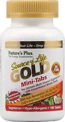 Nature's Plus Source of Life Gold Mini-Tabs Vegetarian 180 Tablets