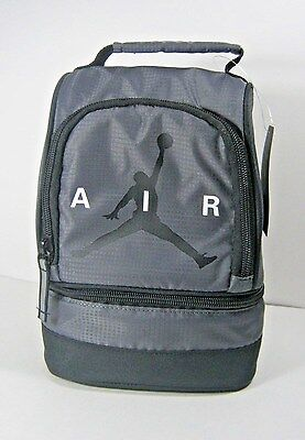 Nike Air Jordan Insulated Dome Lunch Box Tote Bag Boys Girls Black Red New NWT