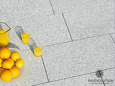 PREMIUM 600x900mm Silver-Grey Granite Single Size Patio Kit | Patio Paving Slabs