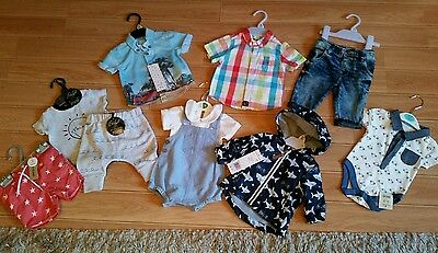 brand new baby boys clothes bundle size 0-1month amd 0-3 month
