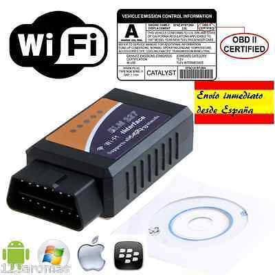 ELM 327 WIFI OBD2 iPhone iPad SCANER DIAGNOSIS COCHES VEHÍCULO multi ANDROID  PC