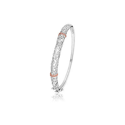 Clogau Silver & Rose Gold Am Byth Bangle **SAVE OVER 60% OFF RRP £330**