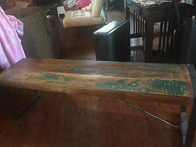 Timber And Iron Bench Seat