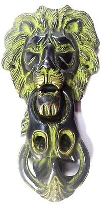 Big Lion Face Shape Vintage Antique Finish Handmade Brass Door Knocker Door Knob