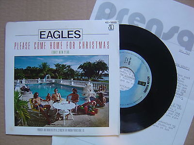 EAGLES please come home / funky new SPANISH 45 ASYLUM 79*promo sheet*umplayed*M-
