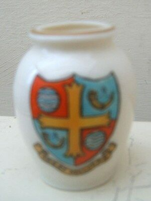 Early Crested China Model of Ancient Urn RD No 472577 Great Malvern Crest W Goss